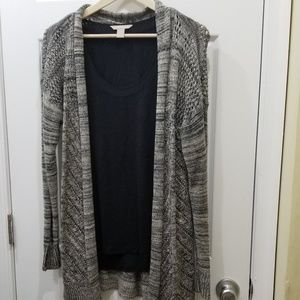 Charcoal duster sweater